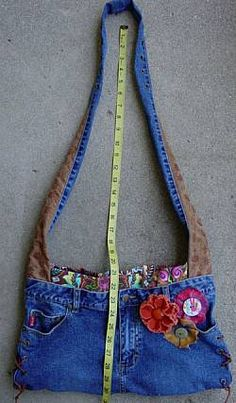 Image detail for -Mudd upcycled jean purse