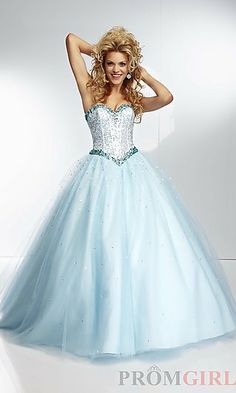 Long Strapless Mori Lee Ball Gown at PromGirl.com NEW1 im pretty sure this is the one