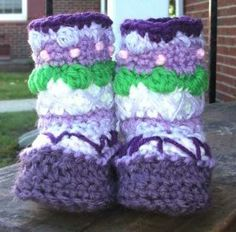 Shades of Purple Granny Boots