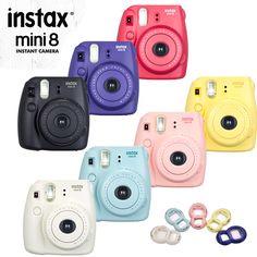 Genuine Fuji Mini 8 Camera Fujifilm Instax Mini 8 Instant Film Photo Camera New 6 Colors Available + Free close up Lens Polaroid Instax Mini, Instax Mini Case, Fuji Instax Mini 8, Instax Camera, Fujifilm Instax Mini 8, Mini 8 Camera, Cute Camera, Polaroid Camera Pictures, Polaroids
