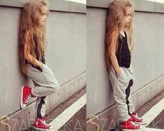 Cool Baby girl with red shoes #fashion #kids #summer