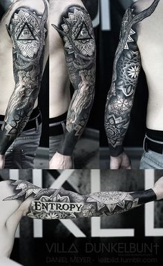 fuckyeahtattoos:   Entropy Sleeve by Daniel Meyer @ VILL∆ DUNKELBUN†