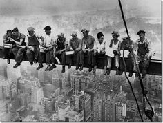 Builders and the Empire State Building, NY- This exact picture hung in a pizza place me and my family use to go to (it was carry out only) and I remember sitting , waiting for the pizza, thinking that this must have been absolutely horrible. of course I am extremely afraid of heights!