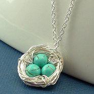 Hazari Creations, Birds Nest necklace.  So cute!