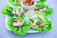 Vietnamese Lettuce Wraps w/ Shrimp and Avocado