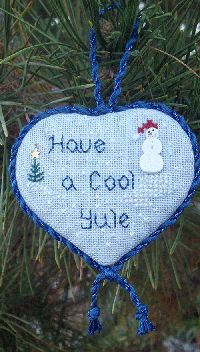 Have a Cool Yule ornament free cross stitch chart