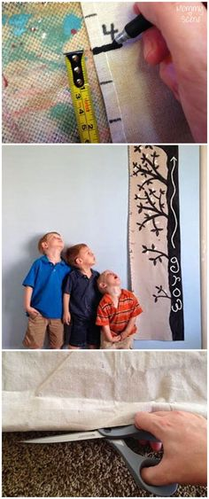 Easily make a growth chart for your family that also doubles as decor!