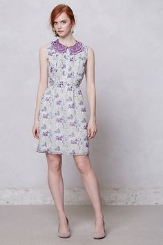 Wisteria Collared Dress  #anthropologie This dress may just inspire me to actually wear a floral pattern for once!