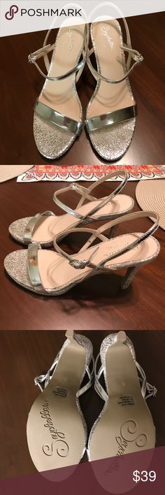 "🌷LAST CHANCE: NEW Seychelles Sweet as Honey Heels Silver. Size 6. Approximately 3.5"" height. New (never used) without box. Seychelles Shoes Heels"