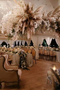 2019 Wedding trends - Pampas grass - Wedding with a J'Aton Couture bride in Apulia - Masseria San Domenico Marquee Wedding, Wedding Dj, Italy Wedding, Wedding Reception Decorations, Wedding Trends, Wedding Table, Floral Wedding, Wedding Colors, Wedding Styles