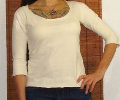 Organic shirts - Handmade from organic cotton and hemp blend jersey Custom made just for you, $50