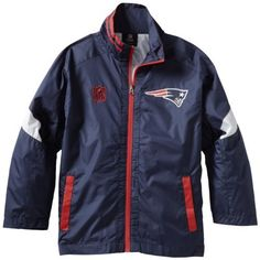 NFL New England Patriots 8-20 Youth Goal Post Full Zip Jacket by Reebok. $22.13. Bangladesh. 100% Polyester. Machine  Wash Cold Separately. Gentle Cycle Only.  Non-Chlorine Bleach When Needed.  Tumble Dry Low.  Remove Promptly.  Use Cool Iron If Necessary.  Do Not Dry Clean. polyester. Make sure your child is prepared for the cool weather while supporting their favorite team in this Goal Post lightweight jacket from Outerstuff. This stylish jacket features contrasting team c...