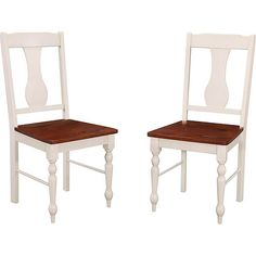 Walker Edison - Huntsman Wood Classic Chair (Set of 2) - White/Bourbon