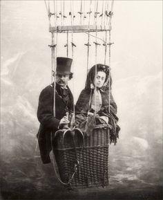 Nadar · Autoritratto con la moglie · 1865
