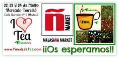 ¡¡ATENCIÓN!! ¡¡El 22, 23 y 24 de mayo estaremos participando en Malasaña Market en el Mercado Barceló (C/Barceló Nº 6 Madrid)!! ¡¡Os esperamos con los brazos bien abiertos para disfrutar del más variado y mejor Té del mundo!! #Tiendadetés #Ñmarket #MalasañaMarket #MercadoBarceló #Madrid #Té #Tea #TeaTime #Relax #Infusiones