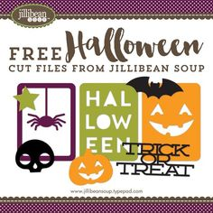 Jillibean Soup Free - Halloween Cut Files! Perfect to use with your Silhouette Cameo!