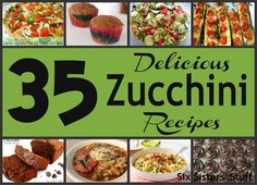 Six Sisters' Stuff: 35 Delicious Zucchini Recipes