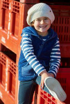#Batela, nautical fashion for #girls. #beanie #stripes #jacket