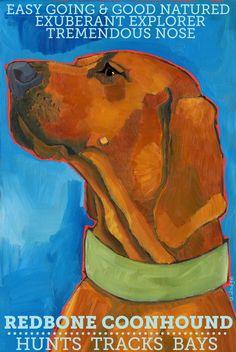 Coonhound No. 3 - Redbone    Etsy: ursuladodge