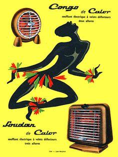Congo  Calor Electric Radiators 1950s  http://www.vintagevenus.com.au/vintage/reprints/info/PR442.htm