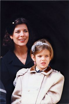charmonaco: 1994: 8 year old Charlotte with her mother Princess Caroline This was the year that I REALLY became a Caroline fan/stalker.