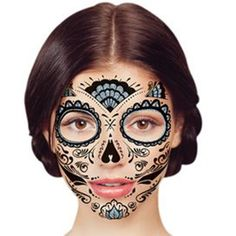 43 Best Day Of The Dead Temporary Tattoos Images Death One Day