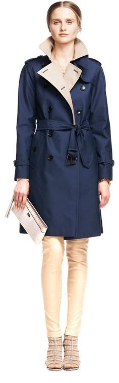 The look: the Coach Colorblock Long Trench, Lavania Heels and Madison Flat Clutch in Lizard Embossed Leather