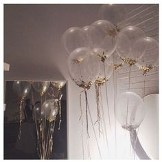 Balloons clear with gold
