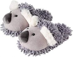most adorable Koala slippers from http://www.plushpaws.co.uk/animal-slippers/fuzzy-friends-koala-slippers.html