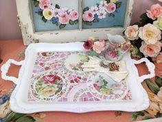 Gorgeous Large Mosaic Tray ❤❤❤