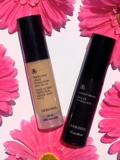 Insta: brooke_belle2 Arbonne Perfecting Foundation has no chemicals, is paraben free, cruelty-free vegan makeup that won't clog pores or cause breakouts