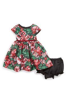 Floral Cap Sleeve Dress (Baby Girls)