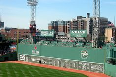 Walk on the field at Fenway Park