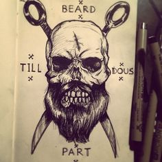 bearded sailor skull - Căutare Google