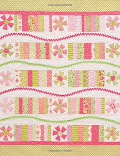 "Love the rick-rack. ""Fun House Baby"" quilt pattern from ""Colorful Stash Busters"" book Strip Quilts, Easy Quilts, Small Quilts, Patchwork Quilt, Jellyroll Quilts, Applique Quilts, Quilting Projects, Quilting Designs, Quilting Ideas"