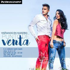 Visítanos en nuestra tienda El GranSan Victorino, #PetrolizadoJeans, te sorprenderá.