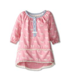Hatley Kids Pom Pom Tunics - Running Horses (Toddler/Little Kids/Big Kids) Pink - Zappos.com Free Shipping BOTH Ways