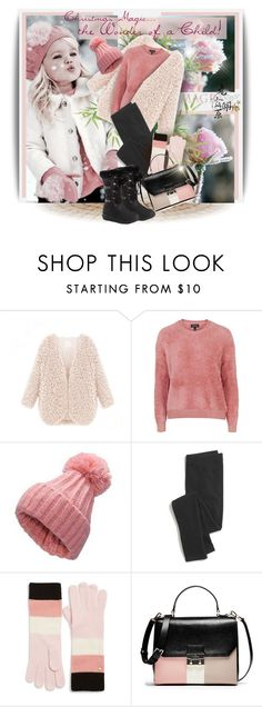 """(Pink quarts & Peach Echo) Christmas Magic...the Wonder of a Child!"" by maison-de-forgeron ❤ liked on Polyvore featuring moda, Topshop, Madewell, Kate Spade y Reneeze"