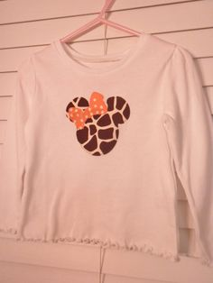 Girls safari minnie mouse shirt  12mo7 by CountryGooseBoutique, $15.00