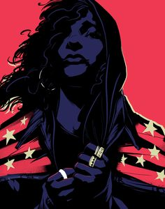 America Chavez - Young Avengers - source: http://matttaylordraws.tumblr.com/post/54667676279/youre-all-reading-young-avengers-by-kieron-gillen