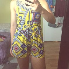 Tribal print romper Super cute, gently worn tribal print romper. Just is a bit too small for my liking Xhilaration Other