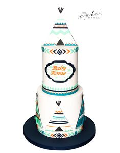 TeePee Bohemian and Tribal Print Baby Shower Cake for a boy! Call or email to order your celebration cake today. Baby Shower Cakes, Baby Boy Shower, Cakes Today, Cupcake Wars, Tribal Prints, Custom Cakes, Food Network Recipes, Babyshower