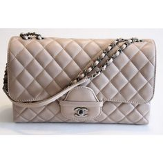 Pre-Owned Chanel Mauve Beige Quilted Calfskin Shoulder Bag Ruthenium... (12.357.940 COP) ❤ liked on Polyvore featuring bags, handbags, shoulder bags, neutral, chain shoulder bag, quilted handbags, chanel shoulder bag, flap shoulder bag and quilted flap bag