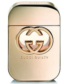 """""""Guilty"""" - Gucci. What an amazing perfume for an elegant evening out! I wore this to my high school reunion and got complimented on it so much! The notes are peach, amber, patchouli, mandarin, and lilac."""