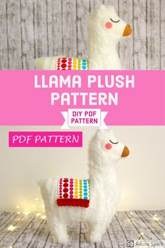 Llama plush pattern PDf sewing Llama sewing pattern plush PDF pattern  PDF pattern only! This is not a finished item!  If you like sewing, this PDF is for you, you can't resist! This funny llama is made with faux fur and felt! This PDF will show you how to realize it.   This PDF contains easy step by step instructions, lot of photos and the pattern ready to be printed and cut. Llama Pillow, Llama Plush, Funny Llama, Plush Pattern, Felt Diy, Photo Tutorial, Pdf Sewing Patterns, Print And Cut, Step By Step Instructions