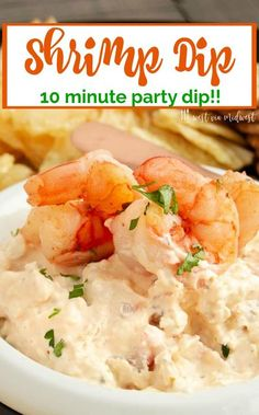 Classic Shrimp dip with cream cheese is easy to make with simple ingredients of cream cheese, cajun spices, and shrimp that come together in 10 minutes for game day parties or holiday appetizers!  Creamy, spreadable appetizer party dip everyone will enjoy Appetizers For A Crowd, Seafood Appetizers, Holiday Appetizers, Appetizer Dips, Appetizer Party, Seafood Recipes, Appetizer Recipes, Dip Recipes, Seafood Dip