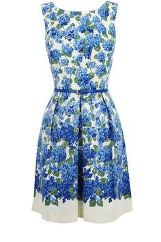 Oasis All Dresses | Multi Blue Spot and Lace Dress | Womens Fashion Clothing | Oasis Stores UK