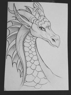 the dragon. Ella, the dragon. Ella, the dragon. Fantasy Drawings, Fantasy Kunst, Cool Art Drawings, Pencil Art Drawings, Art Drawings Sketches, Animal Drawings, Fantasy Art, Drawing Ideas, Drawing Animals