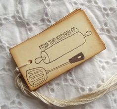 From the KITCHEN OF Tags Labels Handmade by SweetlyScrappedArt, $3.50