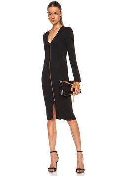 Image 1 of Roland Mouret Aculops Crepe Dress in Black